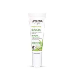 Weleda Corretor Anti imperfeições é um creme com cor para cobrir as imperfeições da pele.